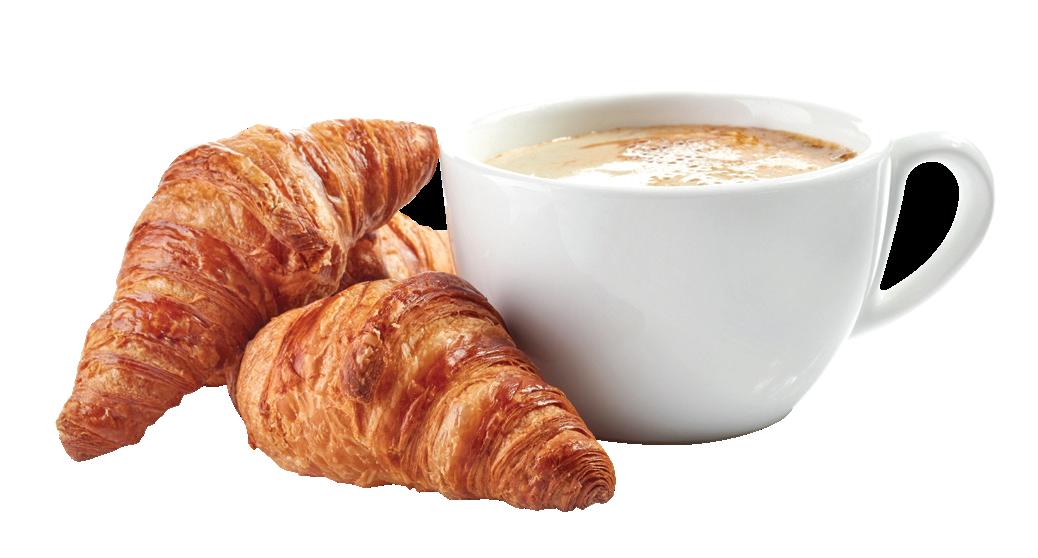kaffe og croissant