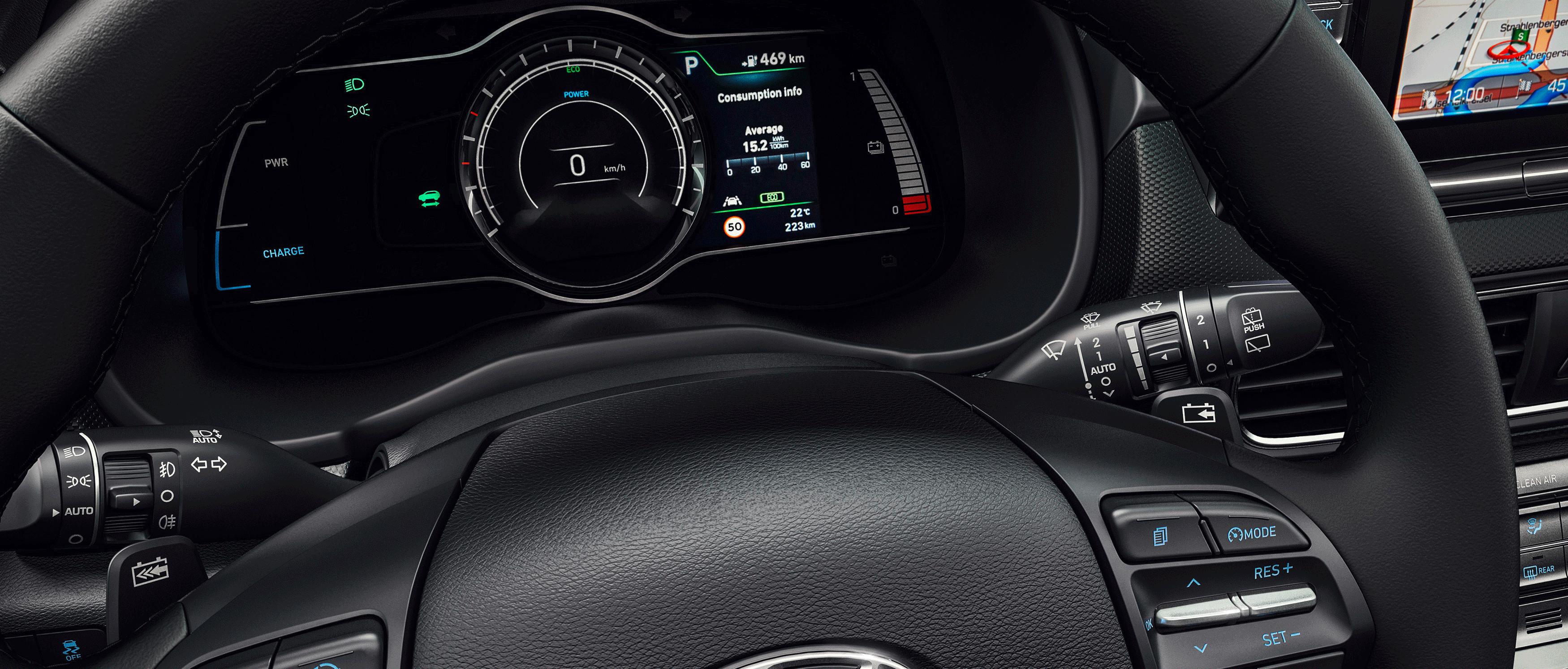 Hyundai KONA electric instrumentering