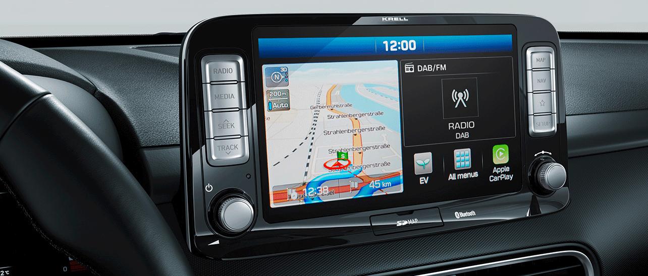 Hyundai KONA electric navigation