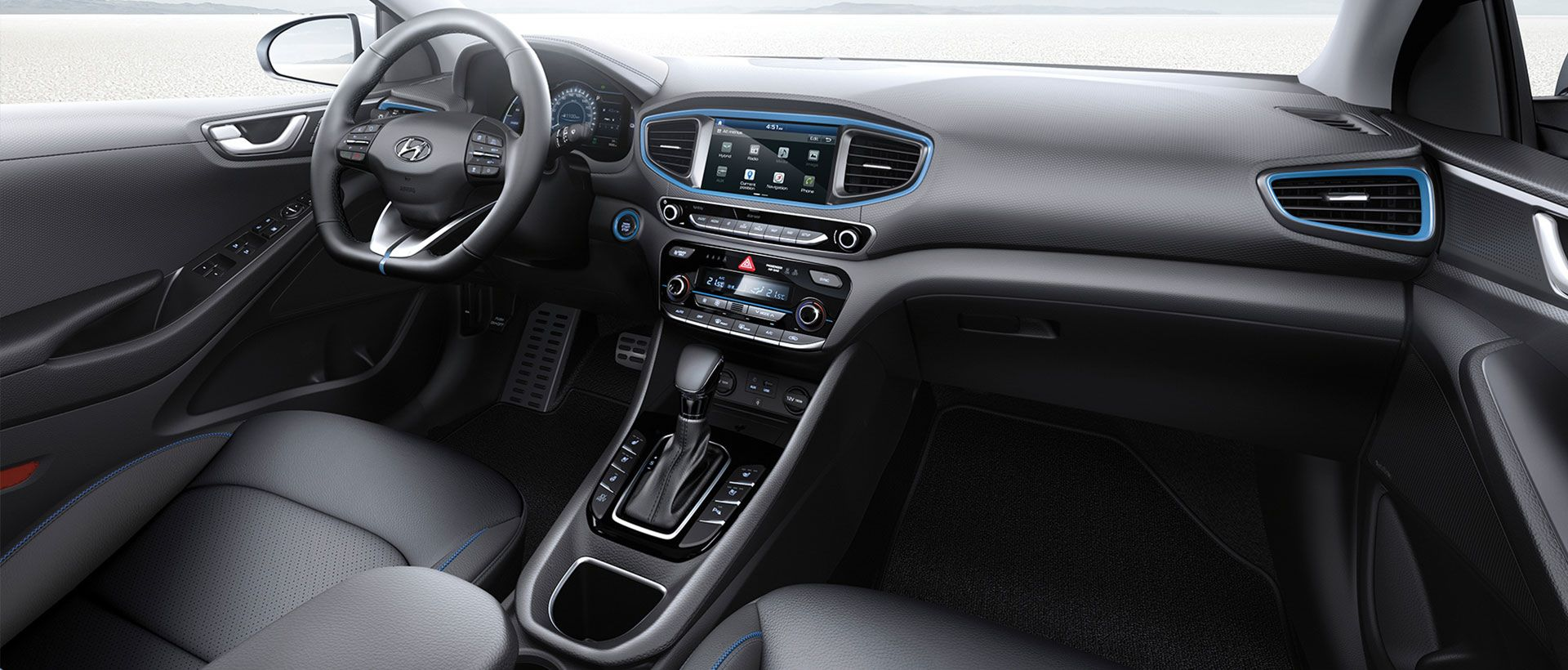 Hyundai IONIQ plug-in hybrid interiør
