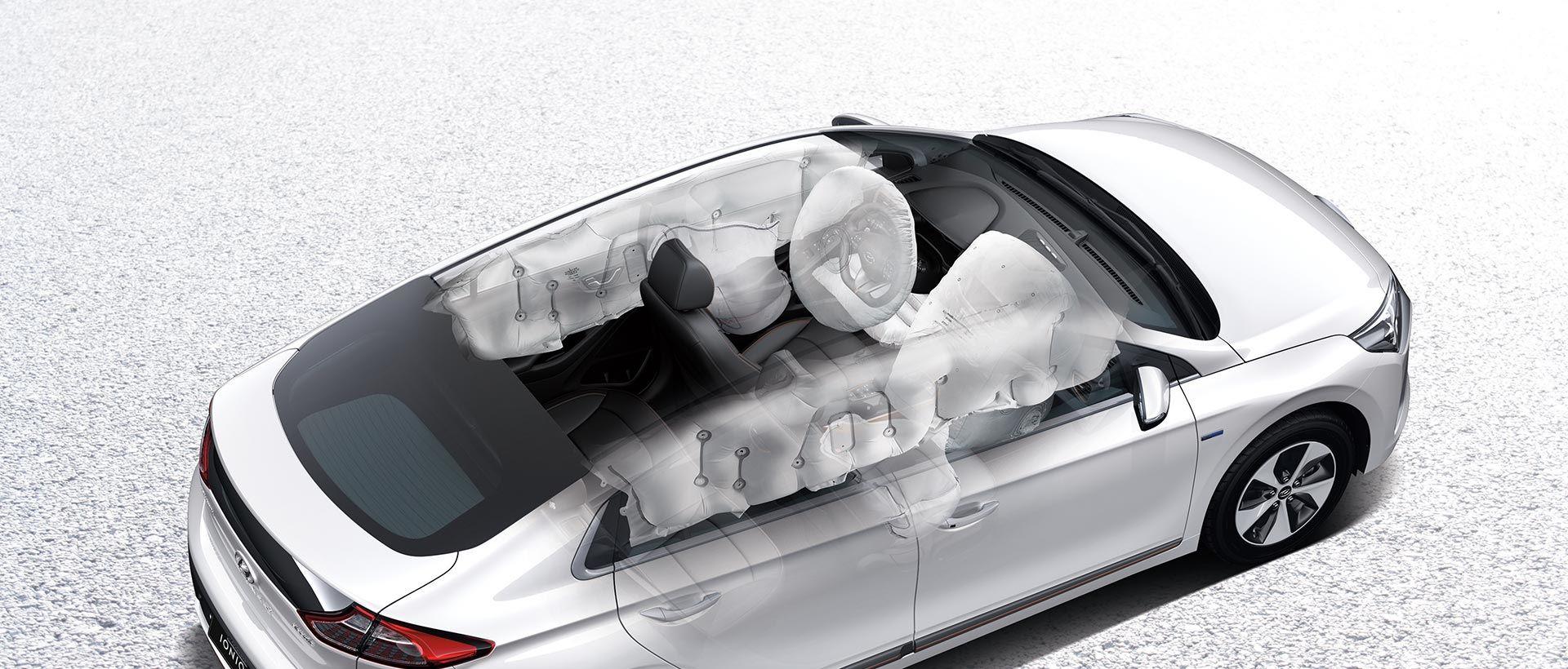 Hyundai IONIQ plug-in hybrid syv airbags