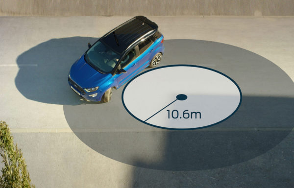 Ford EcoSport dreje radius