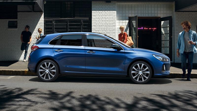 Hyundai i30 van i byen