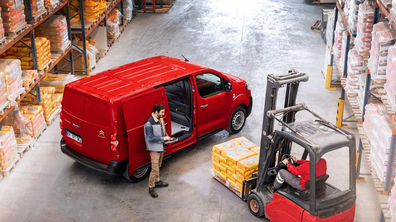 Citroën Jumpy på arbejde
