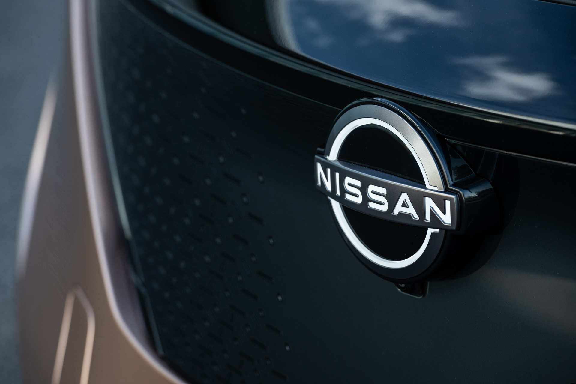 Nissan logoet på ARIYAs front