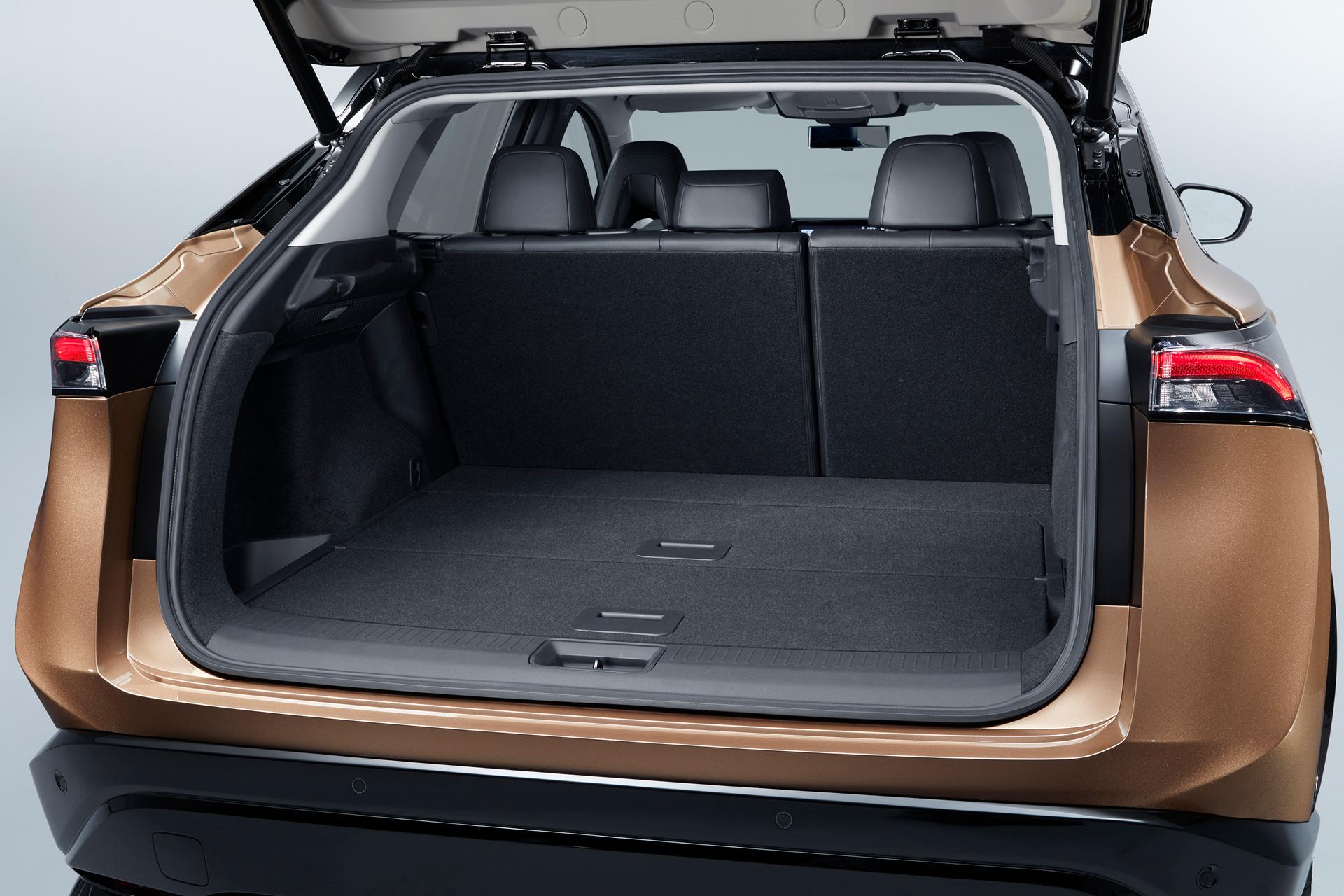 Bagagerummet på Nissan Ariya med sæder oppe
