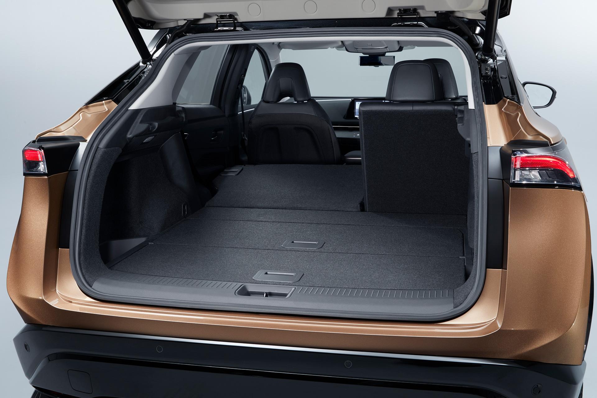 Bagagerummet på Nissan Ariya med to sæder nede
