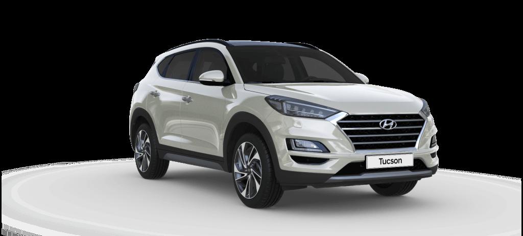 Hyundai Tucson Trend lagerbil med Deluxe pakke i farven Polar White