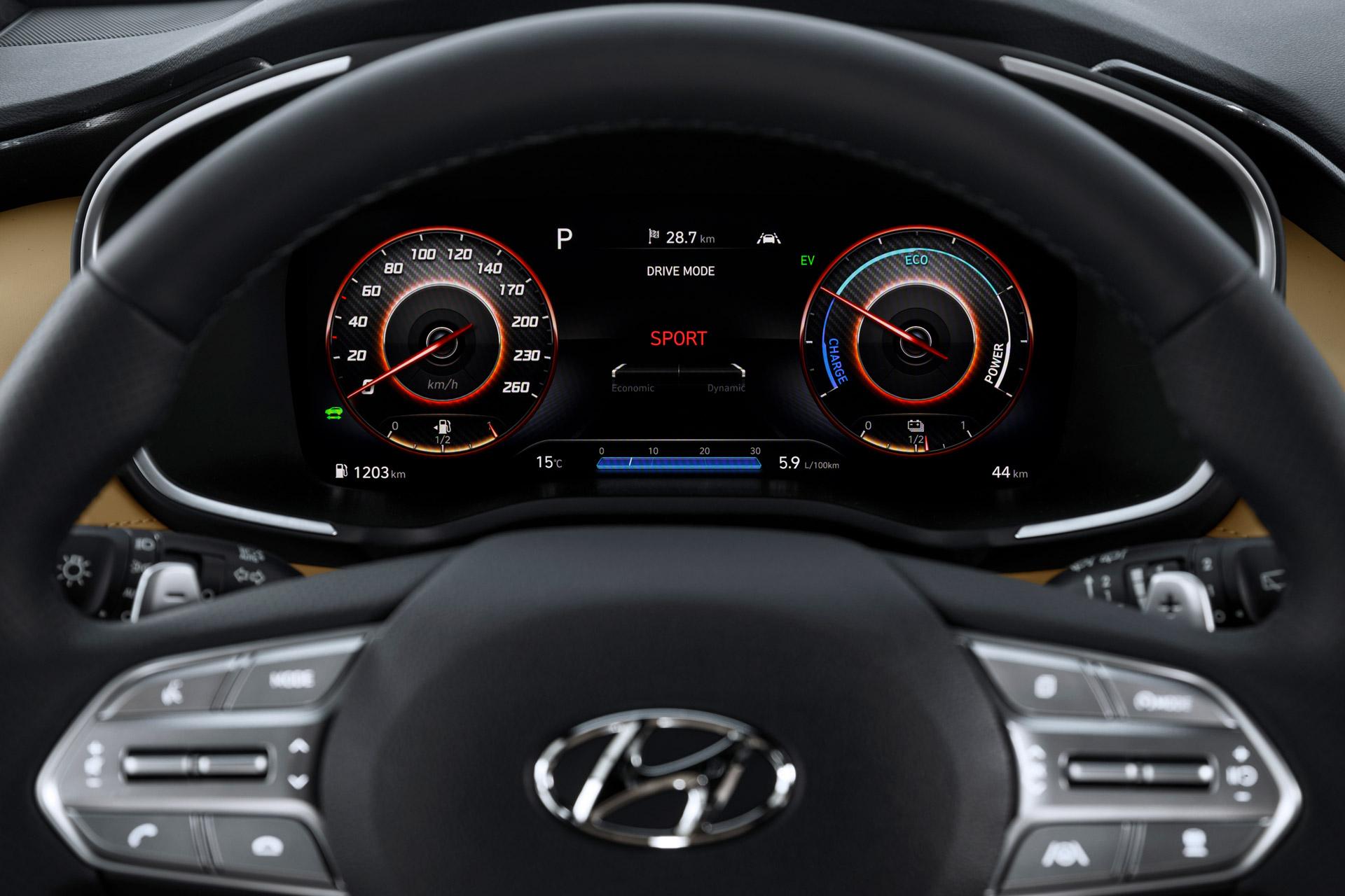 Hyundai Santa Fe interiør rattet
