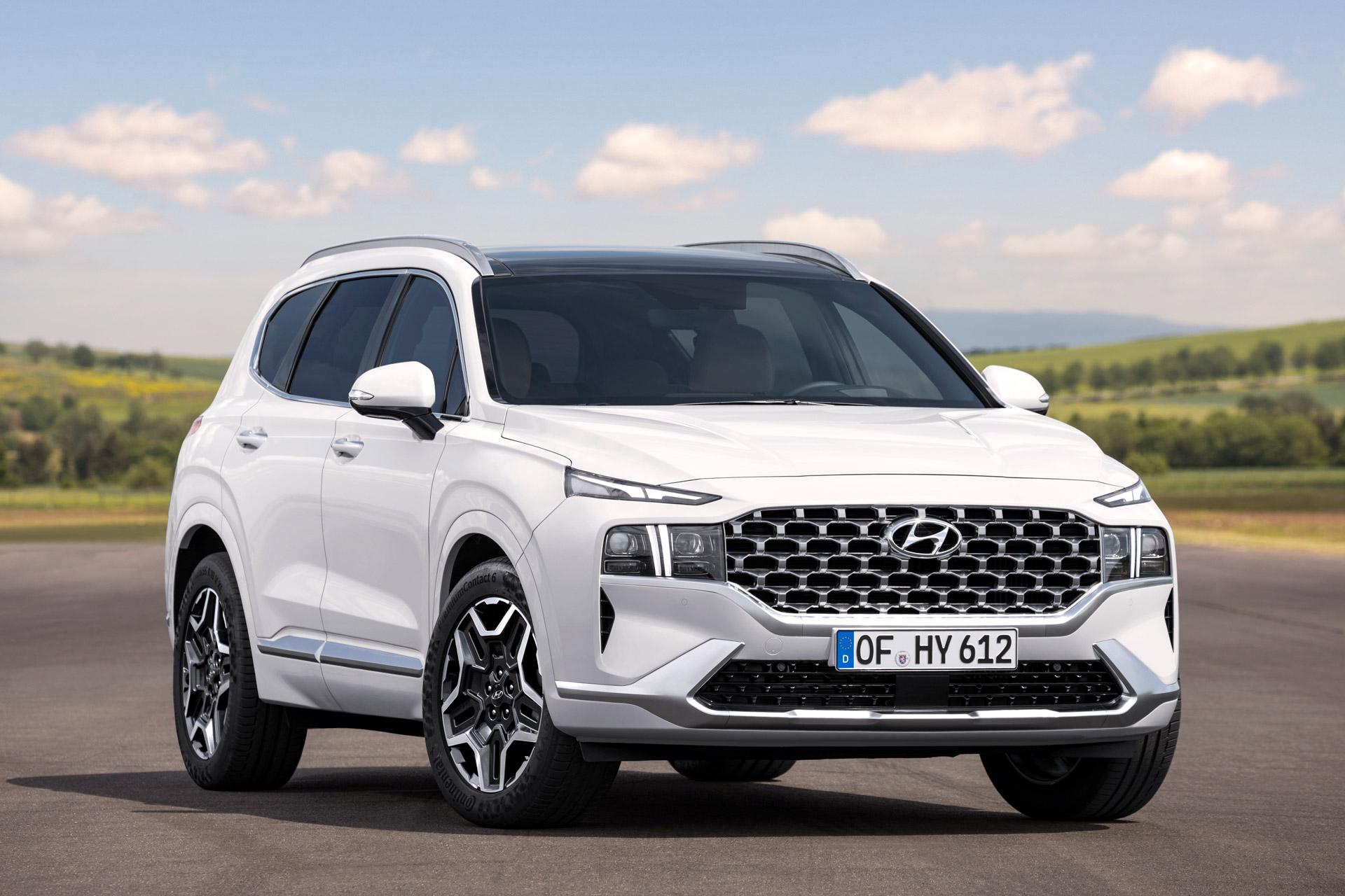 Hyundai Santa Fe front og højre side