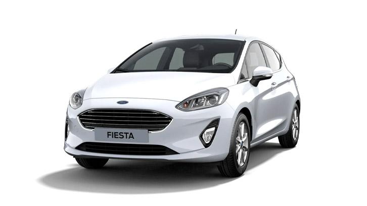 Ford Fiesta Titanium i hvid