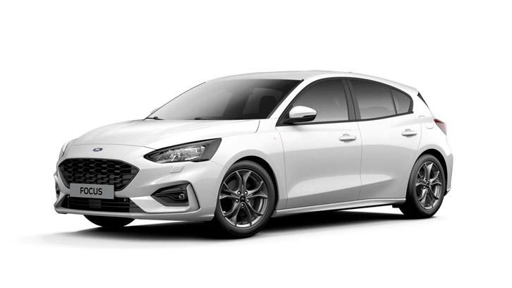 Ford Focus ST-Line i hvid