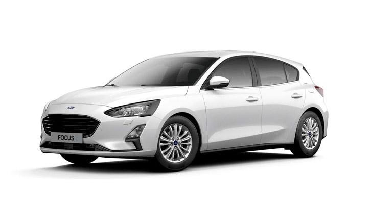 Ford Focus Titanium i hvid