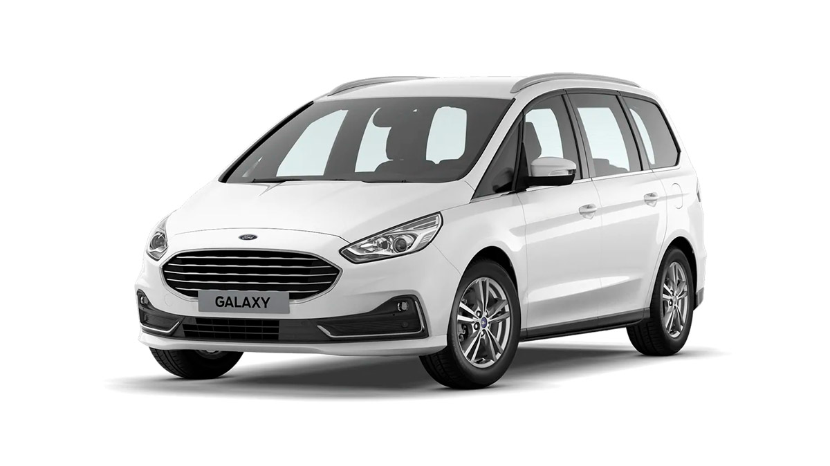 Ford Galaxy i farven FrozenWhite til privatleasing