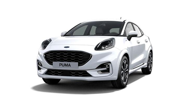 Ford Puma ST-Line i hvid