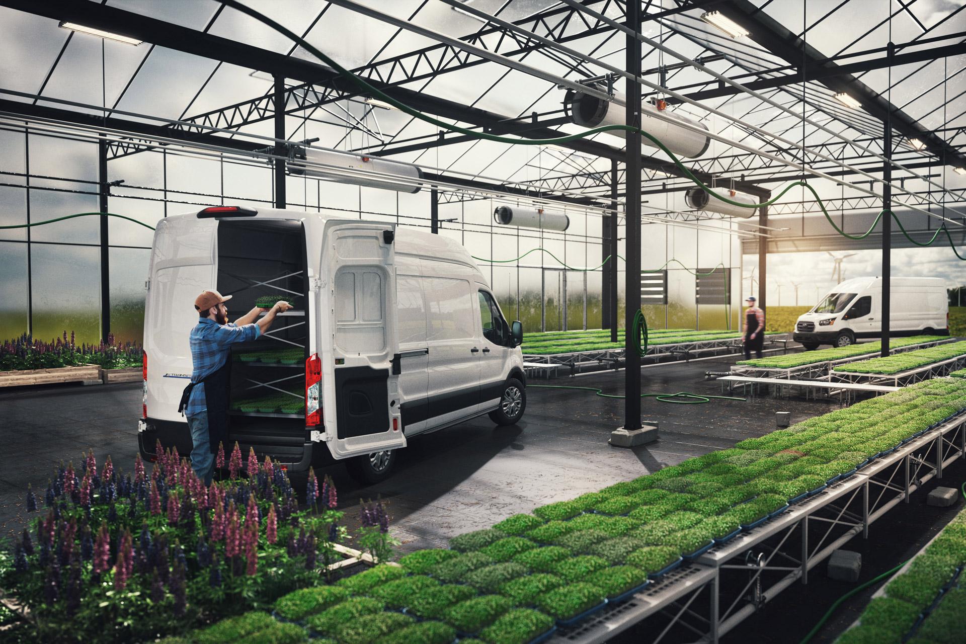 Ford E-Transit i arbejde