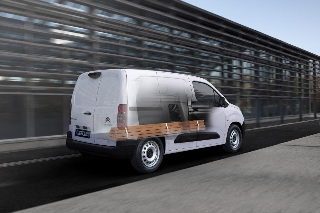 Citroën ë-Berlingo Van med plads til en masse