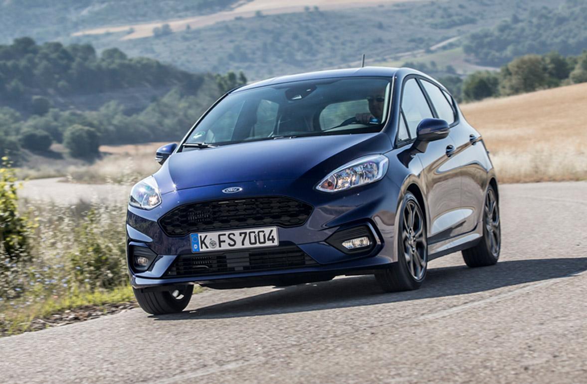 Ford Fiesta ST-Line set forfra