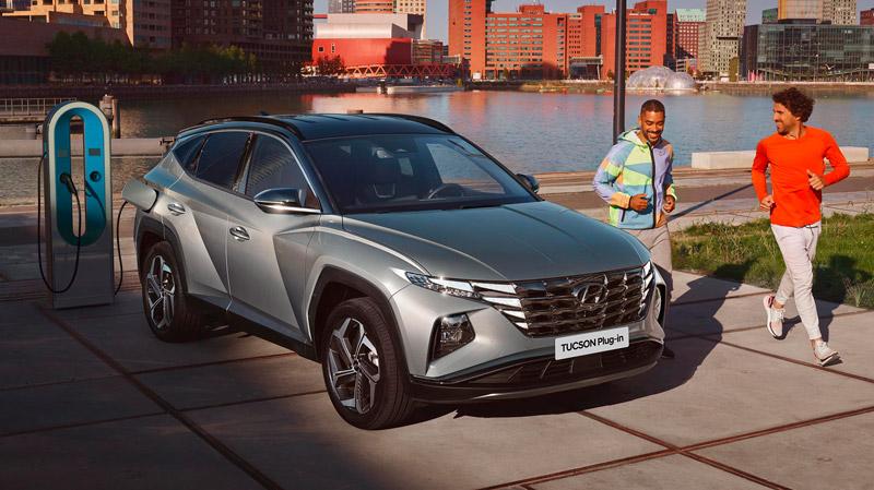Hyundai Tucson Plug-in Hybrid der lader