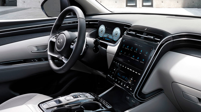 Instrumentbrættet i den nye Hyundai Tucson Plug-in Hybrid