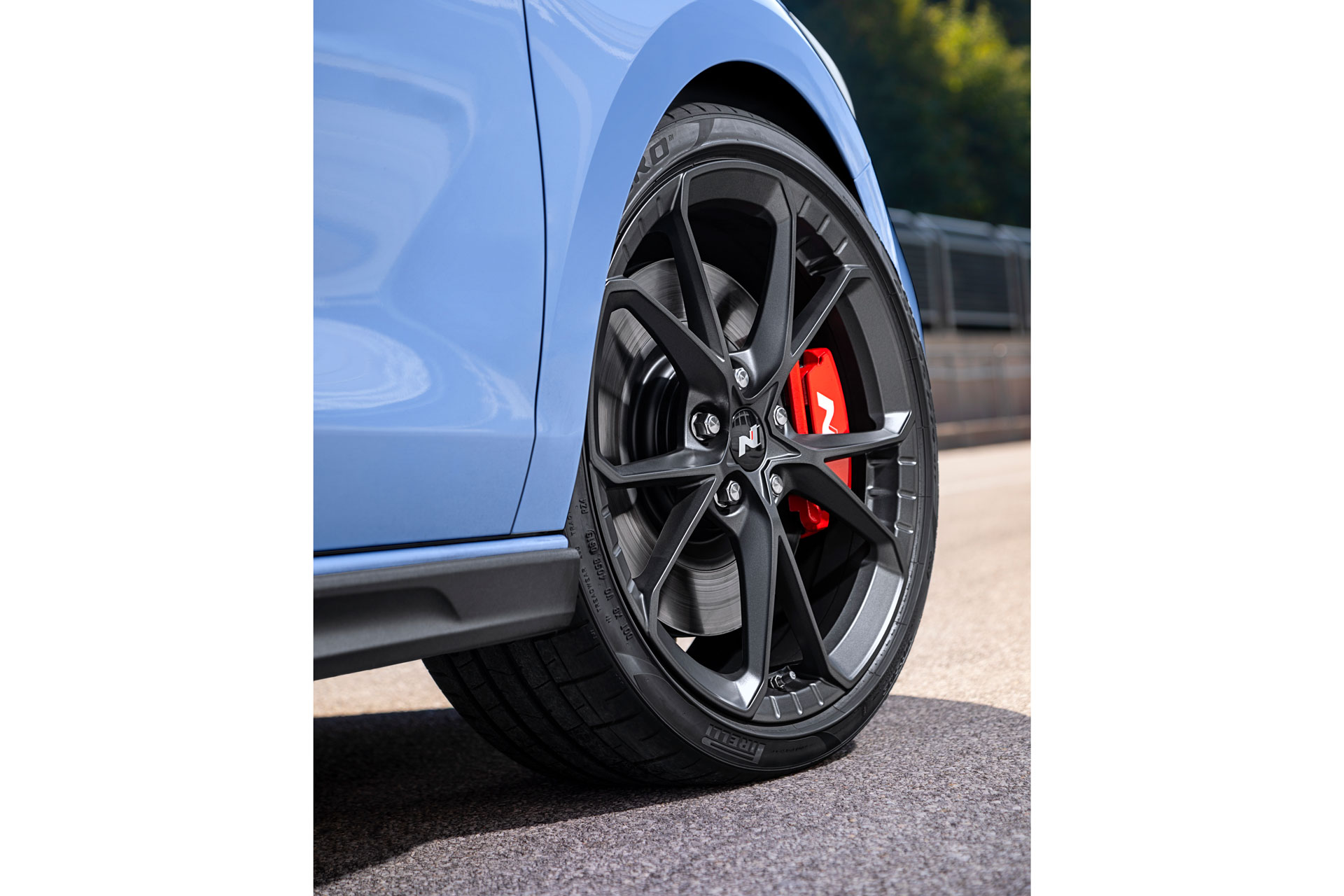 Hyundai i30 N hjul med bremseskiver