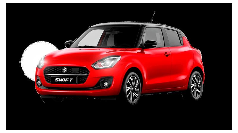 Suzuki Swift i farven rød