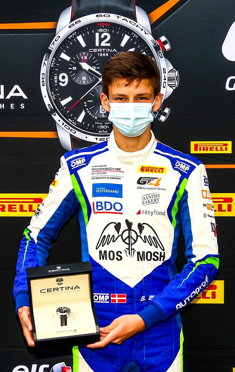 Bastian Buus med ur præmie
